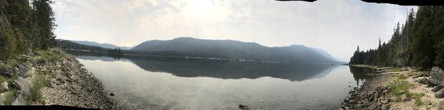Panorama shot of Lake Wenatchee