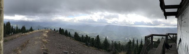 Panorama shot west from Little Guard