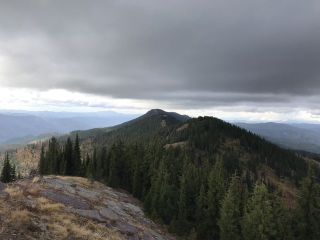 View north of Guard Peak, Downey Peak, and Bennett Peak