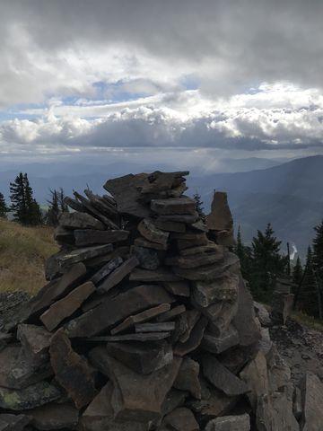Rock pile near Little Guard