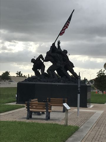 Iwo Jima memorial at trailhead