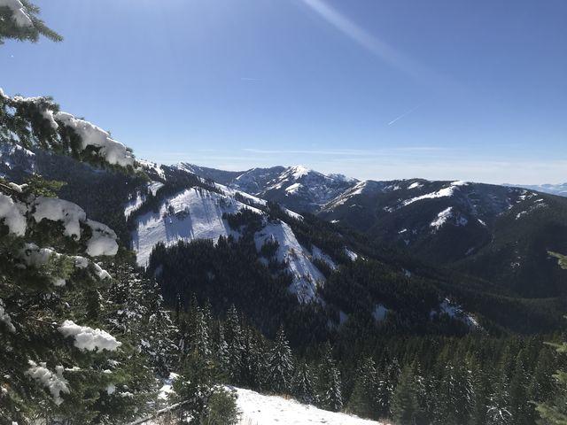 View towards Crystal Lake