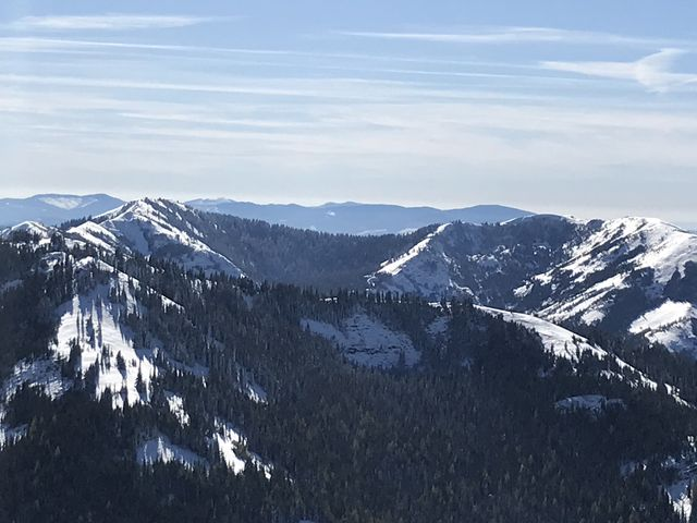 Vista south. The basin behind the first ridge is Crystal Lake