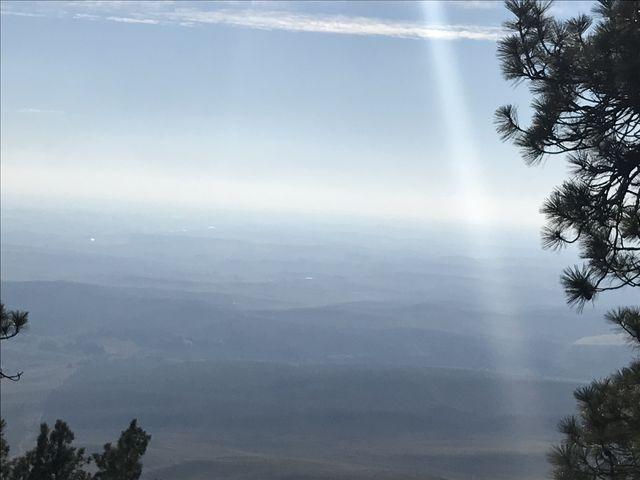 The views were grand, albeit a bit hazy