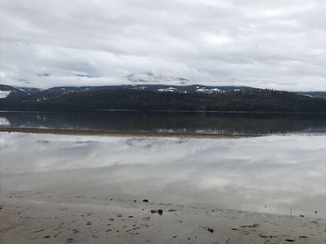 View across Priest Lake. Perhaps you could see Chimney Rock on a clear day