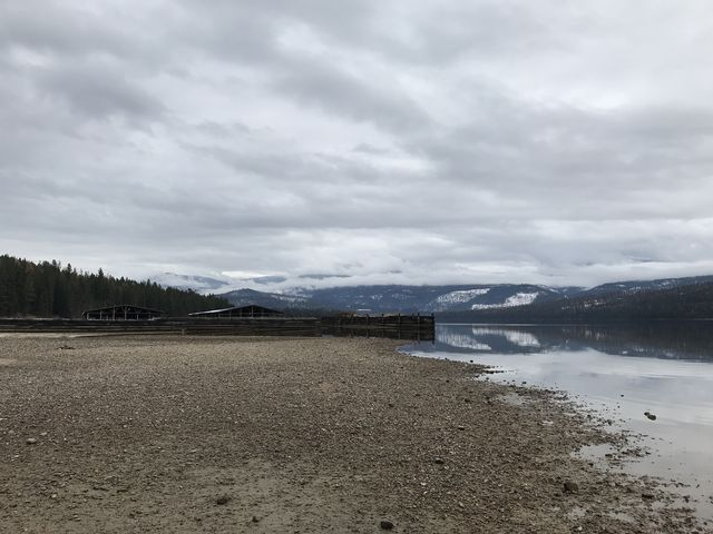 Looking north past Elkins Resort