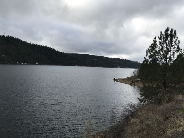 Looking west along Lake Coeur dAlene