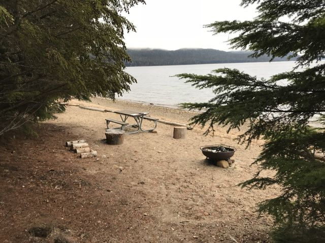Numerous campgrounds dot the lake shore. Each comes with a bear box!