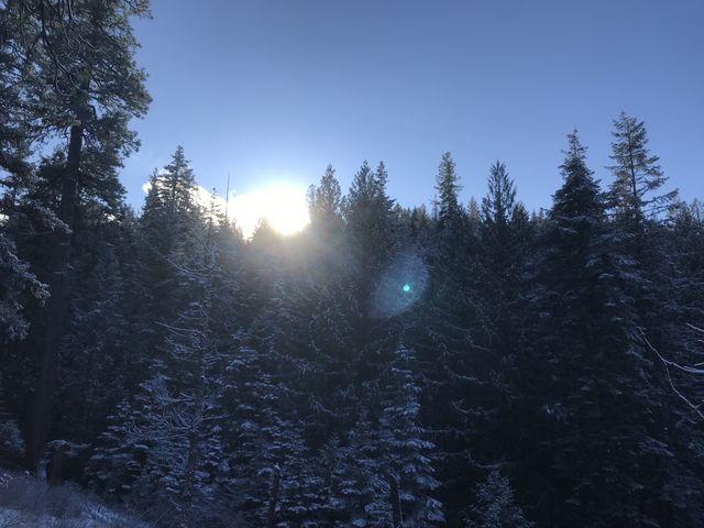 The sun peeking over the crest