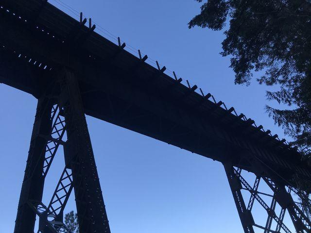 Train tracks overhead