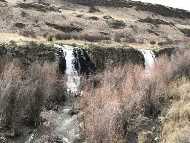 There are 3 waterfalls in the eastern arm and a larger one in the western arm