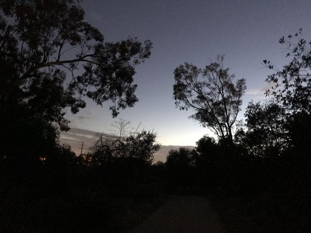Darkness falling over Serrano Road. Its a great after-work hike