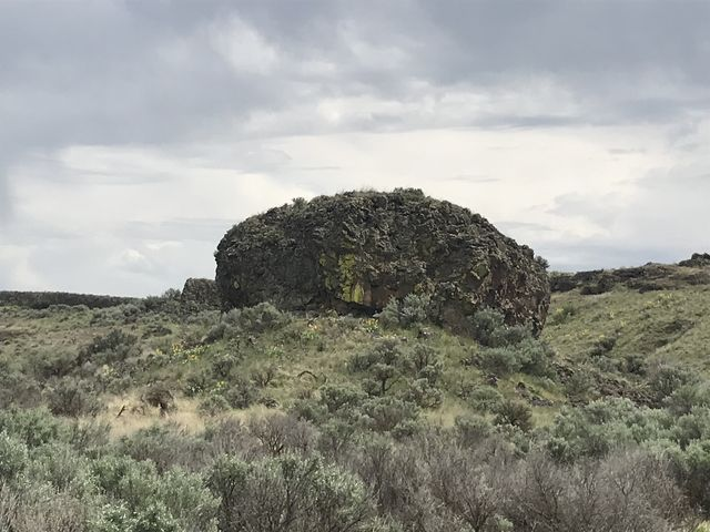 Rock formation on the Lakeview Ranch trail