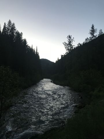 Dusk enveloping Big Creek