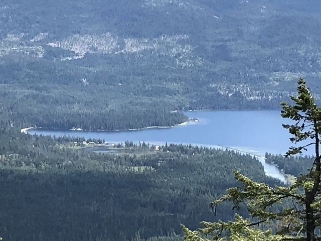 Mosquito Bay and the  Thoroughfare connecting upper and lower Priest Lake