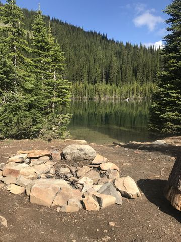 Campsite at Lower Glidden Lake
