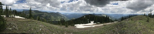 Panorama shot from Burke Summit