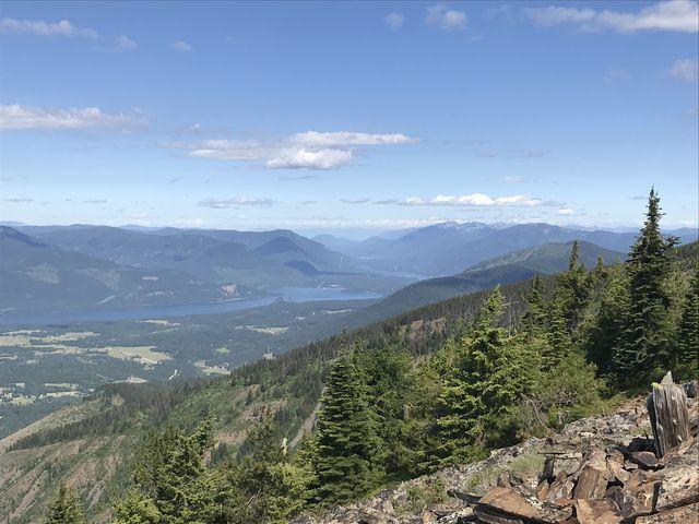 View towards Lake Pend Oreille from Twenty Odd Peak