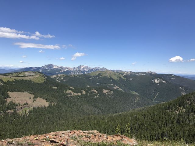 View northwest towards Engle Peak