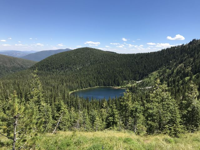 Baree Lake from the divide