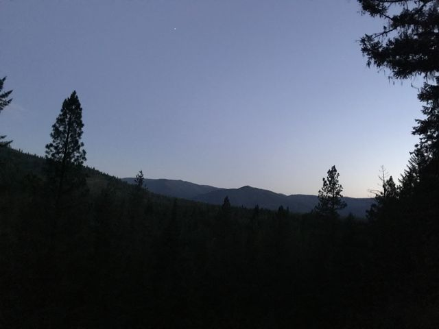 Time to pull out the headlamp! This is near the Swamp Creek trailhead