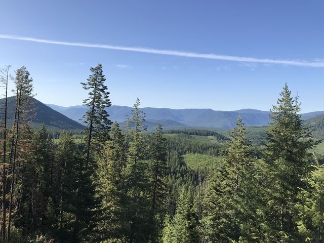 Views of the Coeur dAlene Mountains start to open up quickly