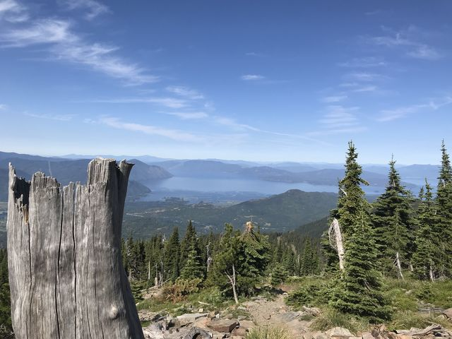 View of Lake Pend Oreille from the false peak