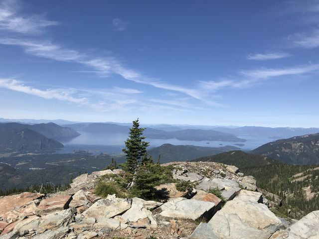 View from the false peak