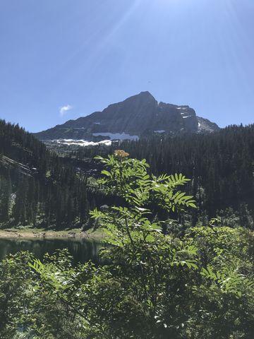 St. Paul Peak and its namesake lake