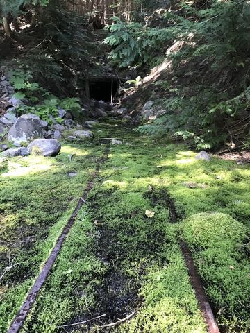 An old mine just off the trail