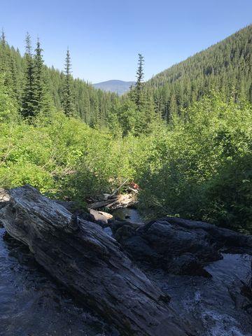 View towards Mullan while crossing Willow Creek