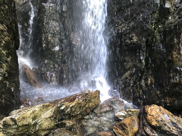 Close up of the waterfall