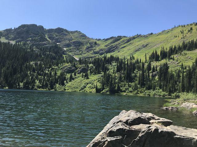 Upper Stevens Lake. It made for good swimming