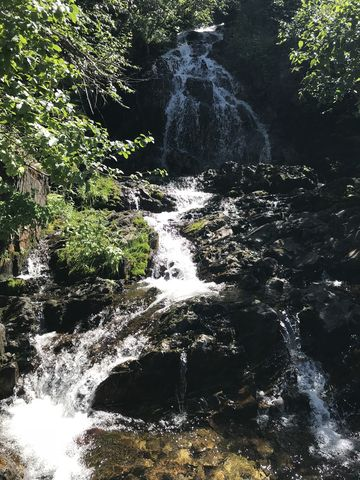 Waterfall at the Willow Creek crossing