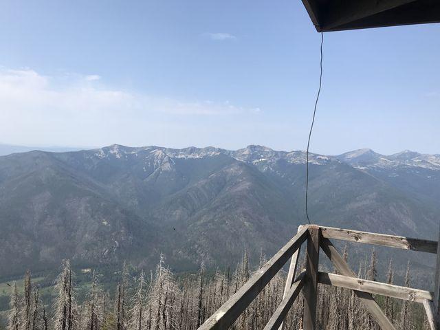 View northwest (Sawtooth Mountain, Spar Peak, etc)