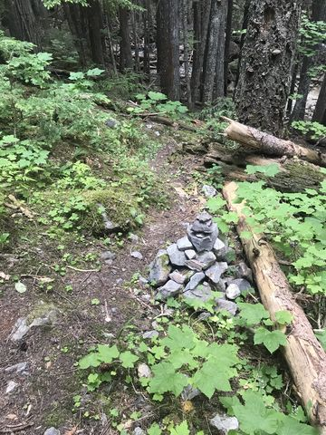 Look for this cairn at the 4.55-mile mark