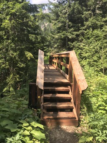 The forest service built 2 rather heavy-duty bridges!