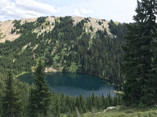 Crystal Lake while climbing to the saddle below Pearson Peak