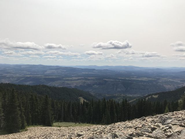 View into the Clearwater Mountains from Pearson Peak