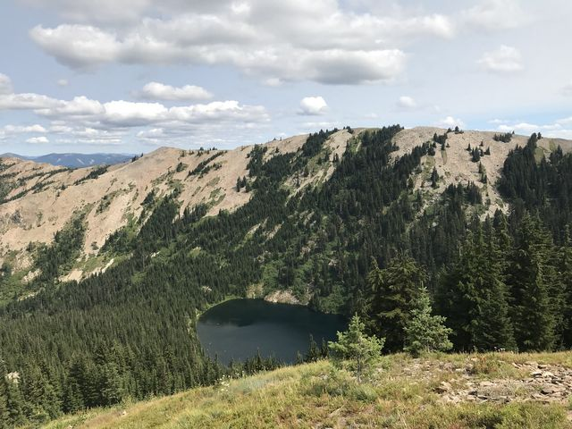 …Crystal Lake below Reeds Baldy