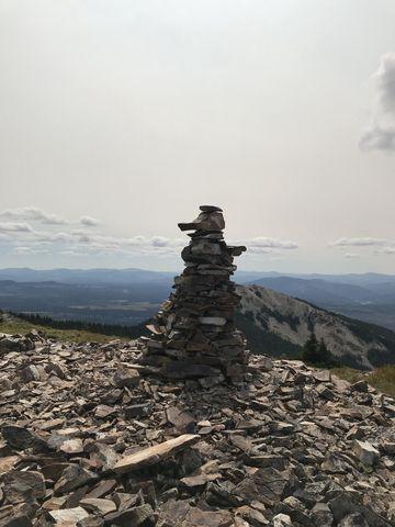 Cairn atop Pearson Peak