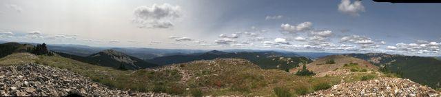 Panoram shot from Pearson Peak
