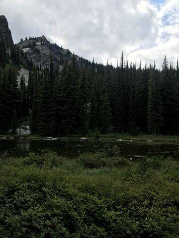 Snow Peak Pond beneath Snow Peak