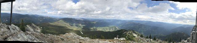 Panorama shot from Snow Peak