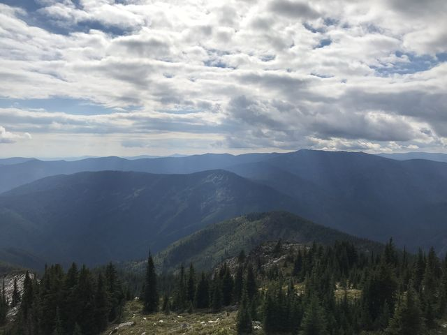 Looking west from Snow Peak into the Clearwater Mountains