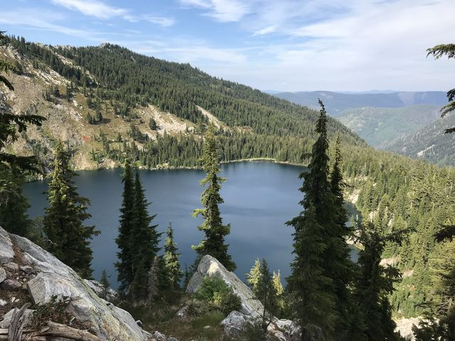 Heart Lake, taken from the trail halfway down