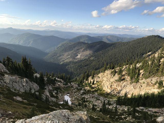 View from Mallard Peak (looking northwest at Skyland Lake)