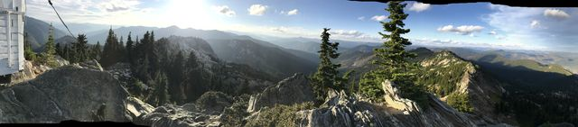 Panorama shot from Mallard Peak