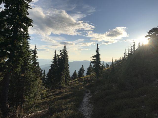 The top of Mallard Peak
