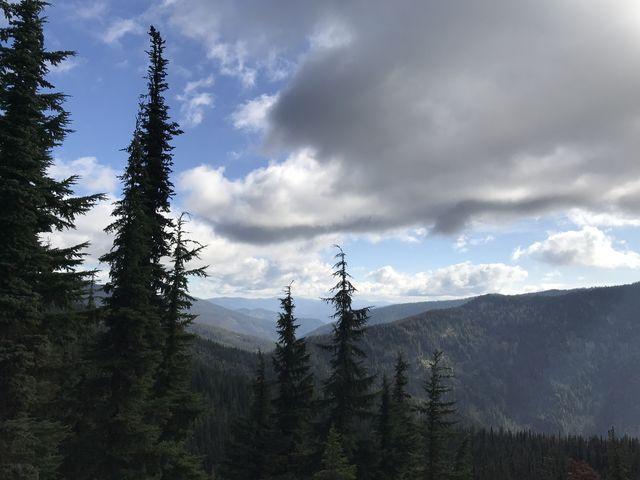 View towards the St. Joe. Pole Mountain ridge to the right